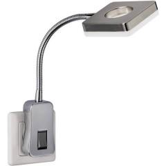 Lampada per presa di corrente LED (monocolore) LED a montaggio fisso 4 W Nickel (raso)