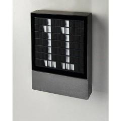 PAVIA Lampada da parete per esterni a LED 4.5 W Bianco caldo Nero