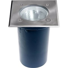 BERLIN Lampada da incasso per esterni E27 acciaio inox
