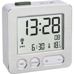 Radiocontrollato Sveglia Argento, Alluminio (spazzolato) Tempi di allarme 1