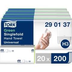 Zickzack C&C Universal Asciugamani di carta (L x L) 23 cm x 24.8 cm Verde 20 x 200 Blocchi/Conf 4000 pz.