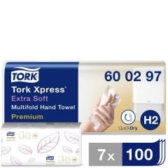 Xpress Multifold Premium Asciugamani di carta (L x L) 34 cm x 21.2 cm Bianco 21 x 100 Blocchi/Conf 2100 pz.