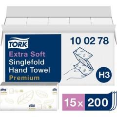Zickzack Premium Asciugamani di carta (L x L) 23 cm x 22.6 cm Bianco puro 15 x 200 Blocchi/Conf 3000 pz.