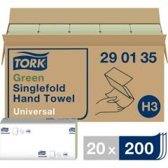 Zickzack Universal Asciugamani di carta (L x L) 23 cm x 24.8 cm Verde 20 x 200 Blocchi/Conf 4000 pz.