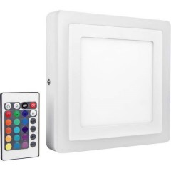 LED COLOR WHITE SQ 200MM 19W LEDV Lampada da parete a LED Bianco 19 W RGBW