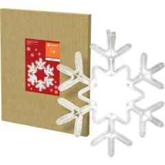 Catena luminosa decorativa Fiocco di neve interno rete elettrica LED (monocolore) Bianco freddo