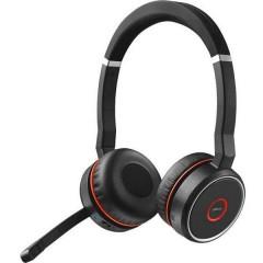 Evolve 75 Stereo MS Cuffie Stereo Bluetooth Stereo, Senza filo Cuffia On Ear Nero