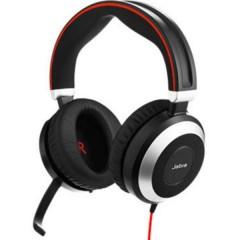 Evolve 80 MS Cuffie Stereo Jack 3,5 mm, USB Stereo, Senza filo Cuffia On Ear Nero