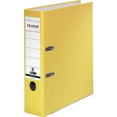 Raccoglitore FALKEN Recycolor DIN A4 Larghezza dorso: 80 mm Giallo 2 archetti