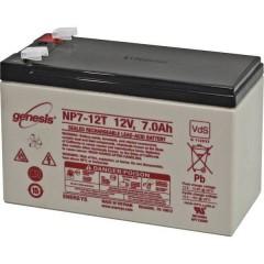 Genesis Batteria al piombo 12 V 7 Ah Piombo-AGM (L x A x P) 151 x 100 x 65 mm Spina piatta 6,35 mm