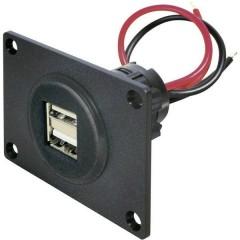 Presa USB doppia Portata massima corrente=5 A Adatto per USB-A