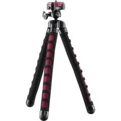 Flex Stativo speciale 1/4 pollice Altezza operativa=10 - 27 cm Rosso per smartphone e GoPro