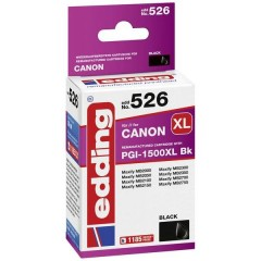 Cartuccia dinchiostro Compatibile sostituisce Canon PGI-1500XL Bk Singolo Nero EDD-526