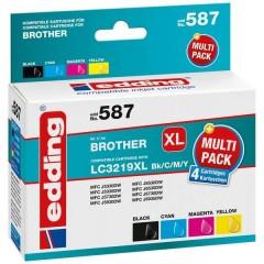 Cartuccia dinchiostro Compatibile sostituisce Brother LC3219XL Bk/C/M/Y Imballo multiplo Nero, Ciano, Magenta,