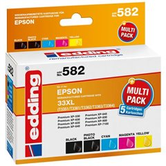 Cartuccia dinchiostro Compatibile sostituisce Epson 33XL/T3351/T3361/T3362/T3363/T3364 Imballo multiplo Nero,