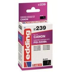 Cartuccia dinchiostro Compatibile sostituisce Canon PGI-520BK Singolo Nero EDD-239