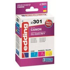 Cartuccia dinchiostro Compatibile sostituisce Canon CLI-526C/M/Y Multipack 3 Imballo multiplo Ciano, Magenta,