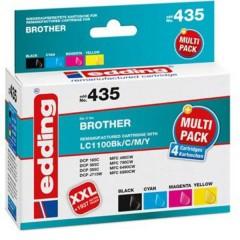 Cartuccia dinchiostro Compatibile sostituisce Brother Brother LC1100BK/C/M/Y Multipack 4 Imballo multiplo Nero,