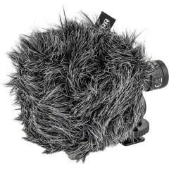 CV-01 a clip Lavalier Kit microfono incl. protezione vento, incl. cavo, Montaggio su supporto per flash