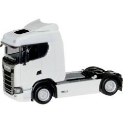 H0 Scania Trattore CS 20 a tetto basso, bianco