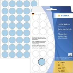 Etichette Ø 19 mm Carta Blu 1280 pz. A tenuta permanente Etichetta di identificazione a forma di bollino