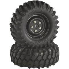 Ruote complete 1:10 Crawler Blocco Offroad V Crawler Nero 2 pz.