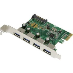 4 Porte Scheda controller USB 3.0 USB-A PCIe