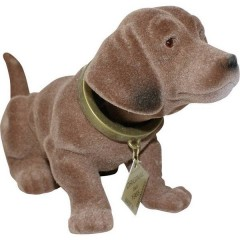 Cane dondolante da cruscotto (L x L) 17 cm x 8 cm Marrone