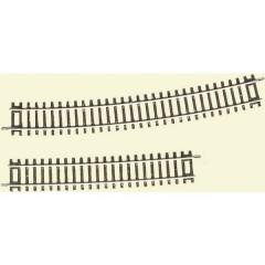 H0 Line (senza massicciata) Binario curvo 15 ° 888 mm