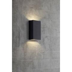 Rold Lampada da parete per esterni a LED 10 W Bianco caldo Nero