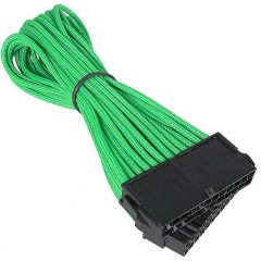 Prolunga Corrente [1x Spina alimentatore ATX a 24 poli - 1x Presa alimentatore ATX a 24 poli] 30.00 cm Verde,