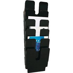 FLEXIPLUS 6 A4 Porta depliant Nero DIN A4 Numero scomparti 6 1 pz. (L x A x P) 247 x 745 x 100 mm