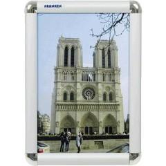 Cornice per foto intercambiabili Trasparente, Argento (L x A x P) 240 x 327 x 12 mm DIN A4