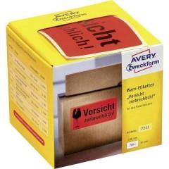 Avery Zweckform etichette di pericolo, 100 x 50 mm, lindicazione Vorsicht zerbrechlich!, 1 rotolo/200 etichette,