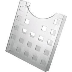 the grid Porta depliant Trasparente DIN A4 Numero scomparti 1 1 pz. (L x A x P) 239 x 262 x 47 mm