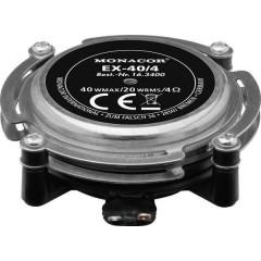 EX-40/4 Altoparlante Exciter 40 W 4 Ω Metallo, Nero 1 pz.
