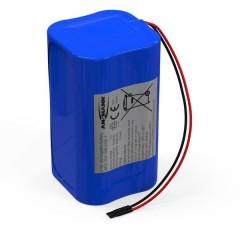 Pacco batteria 4x 18650 2S2P con cavo Li-Ion 7.4 V 5200 mAh