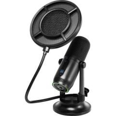 verticale Microfono USB da studio Tipo di trasmissione:Cablato Stativo, incl. cavo, incl. morsetto, incl.
