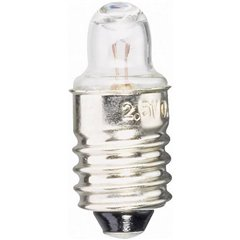 Lampadina per torce elettriche 2.50 V 0.75 W Attacco E10 Trasparente 1 pz.