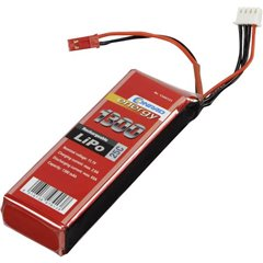 Batteria ricaricabile LiPo 11.1 V 1300 mAh Numero di celle: 3 25 C Softcase BEC