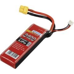 Batteria ricaricabile LiPo 7.4 V 2400 mAh Numero di celle: 2 20 C Softcase XT60