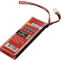 Batteria ricaricabile LiPo 7.4 V 1300 mAh Numero di celle: 2 25 C Softcase BEC