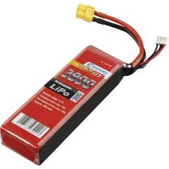 Batteria ricaricabile LiPo 11.1 V 3800 mAh Numero di celle: 3 20 C Softcase XT60