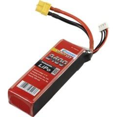 Batteria ricaricabile LiPo 11.1 V 2400 mAh Numero di celle: 3 20 C Softcase XT60