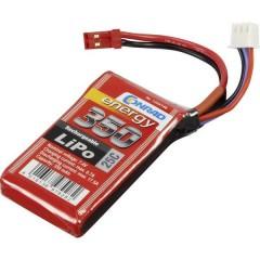 Batteria ricaricabile LiPo 7.4 V 350 mAh Numero di celle: 2 25 C Softcase Presa BEC