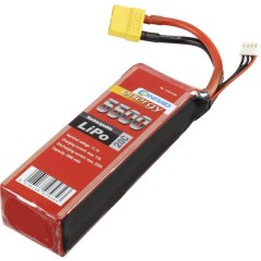 Batteria ricaricabile LiPo 11.1 V 5500 mAh Numero di celle: 3 20 C Softcase XT90