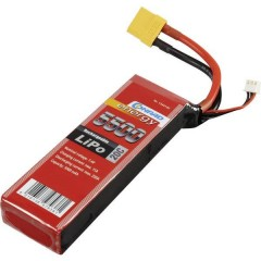Batteria ricaricabile LiPo 7.4 V 5500 mAh Numero di celle: 2 20 C Softcase XT90