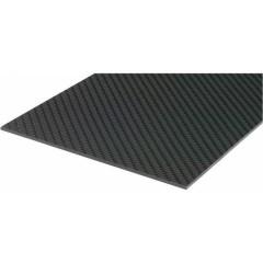 Piastra pre-impregnata in fibre di carbonio (L x L) 340 mm x 150 mm 2 mm