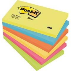 Nota adesiva, memo 127 mm x 76 mm Ultra-Giallo, Ultra-blu, Arancione Neon , Ultra-Rosa , Verde Neon 600