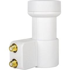 HD-Profi LNB Twin Numero utenti: 2 Diametro: 40 mm connettore placcato oro, Protezione agli agenti atmosferici